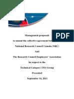 NRC to Demands 2011
