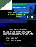 Ejemplo de Ecuaciones de Cambio de Ancho de Calzada