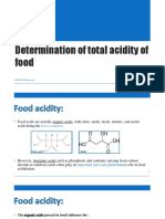 1 Determination of Total Acidity of Food