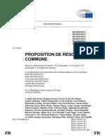 Resolution Parlement UE RDC