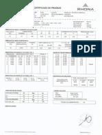 Certificado Transformador 200 KVA Chepica