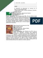 Bibliografia SQL MySQL