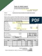 Honda BRV Calculation Sheet