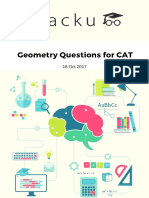 Geometry Questions for CAT