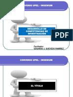 Material de Apoyo Para Elaboración de Título y Capítulo I Del TEG