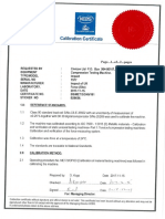 Cal Cert for Cube Crusher and Weighing Balance