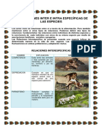 Interacciones Inter e Intra Especificas de Las Especies