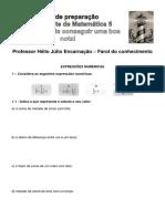 Ficha Expressões Numéricas Mat5 Dezembro