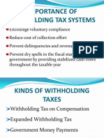 Withholding Tax Compensation