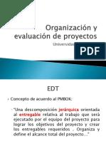 Organización y Evaluación de Proyectos EDT