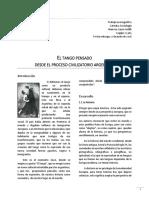 EL TANGO PENSADO  DESDE EL PROCESO CIVILIZATORIO ARGENTINO