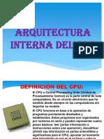 1la Arquitectura Interna Del Cpu