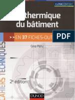 La Thermique Du Batiment en 37 Fiches-outils