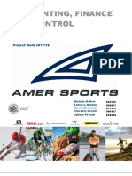 Amer Sports' Financial Analysis