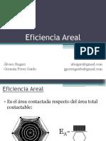 Eficiencia Areal