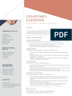Courtney Clemens Resume