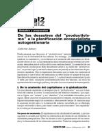 De desastres del productivismo a la Planificacion ecosocialista autogestionariaSamary.pdf