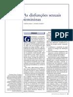 As Disfunções Sexuis Femininas