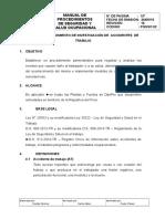 PGSSO 02 Procedimiento de Investigacion de Accidentes de Trabajo