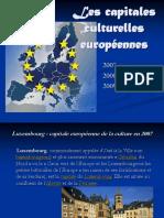 Les Capitales Culturelles Européennes