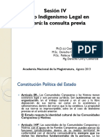 AMAG Sesión IV Nuevo Indigenismo Legal en el Perú - la consulta previa.pptx