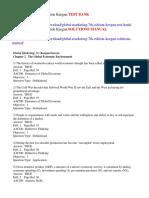 Global Marketing 7th Edition Keegan Test Bank