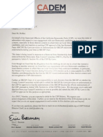 Letter from California Democratic Party to Chris Robles