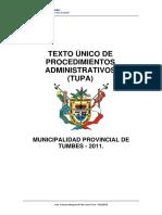 Testo Unico de Procesos Administrativos Tupa