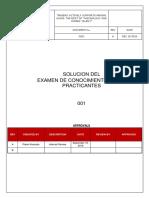 Examen de Conocimientos Para Practicantes - Solucion