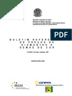 IBMG 2009 - Boletim Referencial de Preços de Diamante e Gemas de Cor