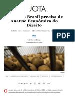 Por Que o Brasil Precisa de Análise Econômica Do Direito – JOTA
