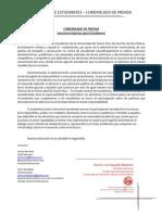 Comunicado de Prensa - Sanciones