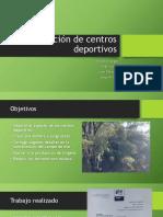 Reforestación de Centros Deportivos Exposicion
