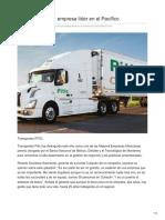 Transportes Pitic empresa líder en el Pacífico