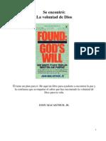 Se encontró_La voluntad de Dios (Libro completo)