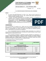 RESOLUCIÓN DE ALCALDÍA  Nº  400=2011 APROBAR LIQUIDACION CEI ESPECIAL