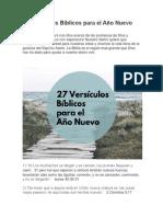 27 Versículos Bíblicos Para El Año Nuevo