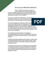 El Sumidero Del Erario Por El MEDICARE y MEDICAID