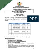 CDO 004 LA PAZ Inst Tecnologico Don Bosco