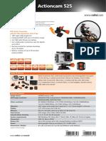 Rollei Data Sheet Actioncam 525