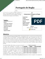 Campeonato Português de Rugby – Wikipédia, A Enciclopédia Livre