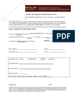 Credit Card Auth Form