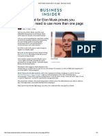 Elon's Musk Résumé All on One Page - Business Insider