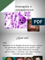 Citomegalia o Citomegalovirus