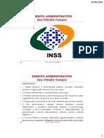 INSS Ana Claudia Campos Estado,Governo,Adm.pub.,FontesePrincipios PARTE 1