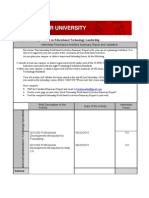 Internship Field-Based Activities Summary Report and Validation[1]