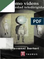 UNFV ANTROPOLOGIA Sartori, Giovanni - Homo Videns