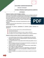 PROGRAMA DE LIMPIEZA Y DESINFECION RESTAURANTE