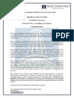 RO# 159 - S Aprueba El Convenio Para Evitar Doble Imposición Entre Ecuador y La Federación de Rusia (12 Ene. 2018)