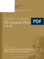 Simplicius, On Aristotle's Physics 1.5-9